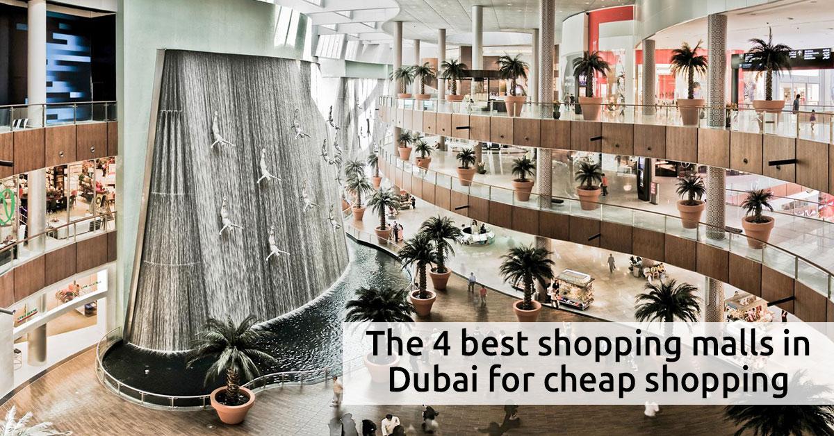 The 4 best shopping malls in Dubai for cheap shopping